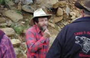 Prospector at Humbug Gold Mine